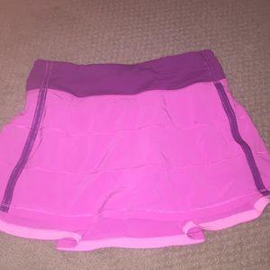 lululemon skirt size 4 super cute pink and purple